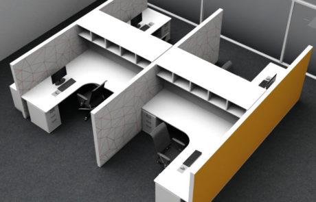 Raumakustik_Buero_flexibler Arbeitsplatz_Großraumbuero_